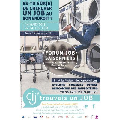Forum jobs saisonniers à Niort : Cij'trouvais un job !
