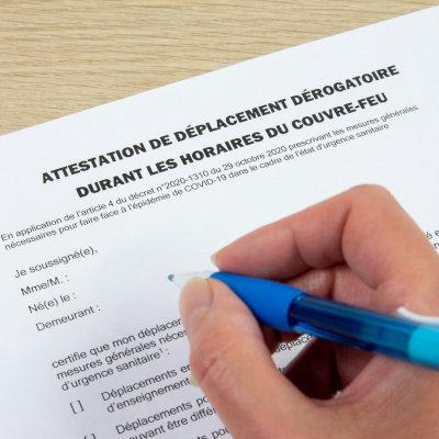 """Covid-19 : Attestations de déplacement """"couvre-feu"""" pour les formations en présentiel"""