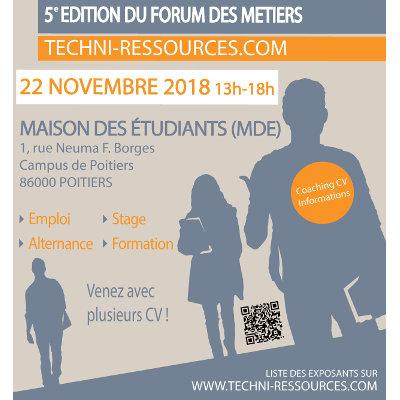 """Forum des Métiers """"Techni-Ressources.com"""" à Poitiers"""