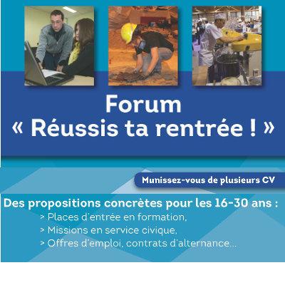 """Forums """"Réussis ta rentrée !"""" sur le territoire du Poitou-Charentes"""