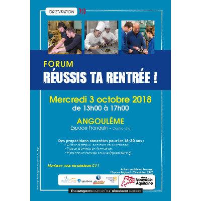 """Forum """"Réussis ta rentrée !"""" à Angoulême"""