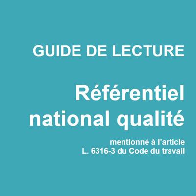 Un guide sur le nouveau référentiel national qualité