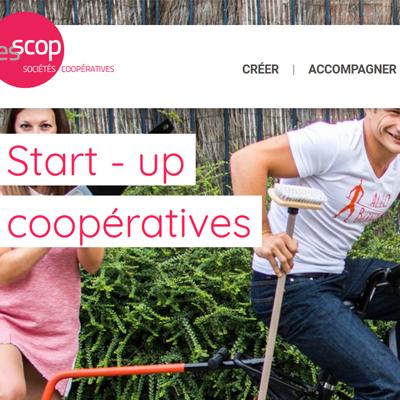 Un site d'informations sur la création de start-up en société coopérative