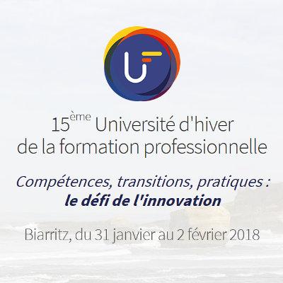 L'innovation au programme de la 15ème Université d'hiver de la formation professionnelle