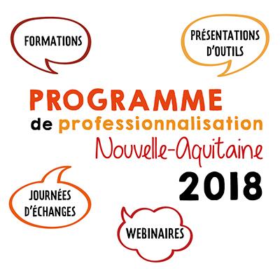 Calendrier des actions de professionnalisation fin 2018