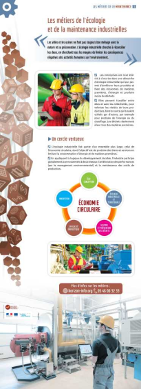 Expo : Les métiers de l'écologie et de la maintenance industrielles
