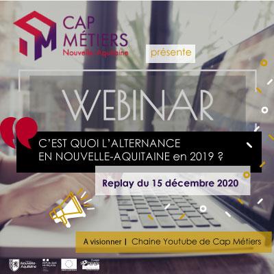 Webinaire : C'est quoi l'alternance en Nouvelle-Aquitaine en 2019 ?