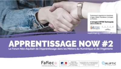 Apprentissage Now #2, le Forum Néo-Aquitain de l'Apprentissage des Métiers du Numérique