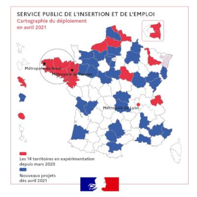 31 territoires sélectionnés pour le déploiement du service public de l'insertion et de l'emploi (SPIE)
