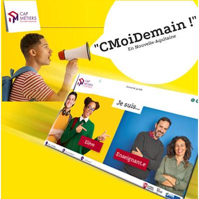 CMoiDemain : l'outil d'info de Cap Métiers pour les scolaires et les enseignants