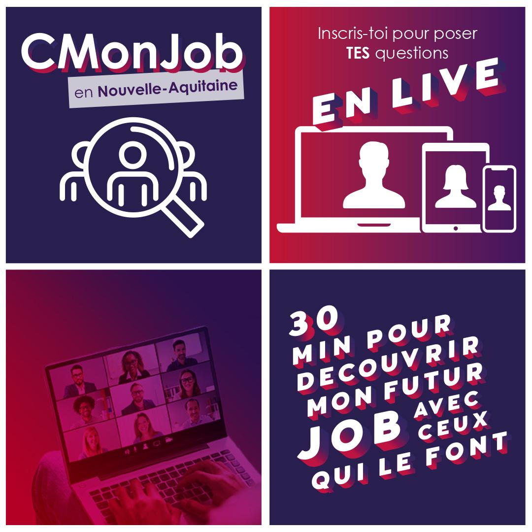 CMonJob, 1 live d'information pour les jeunes que vous accompagnez