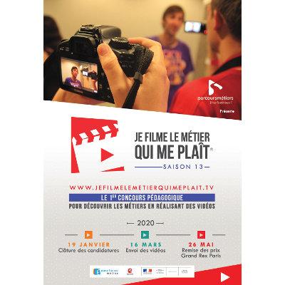 """Lancement de l'édition 2020 des concours « Je filme le métier qui me plaît"""" et """"Je filme ma formation"""""""