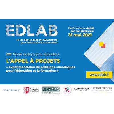 EDLAB : Expérimentations de solutions numériques innovantes pour l'éducation et la formation en Nouvelle-Aquitaine