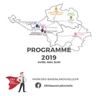 Espace Régional d'Orientation du bassin d'emploi de La Rochelle : Programmation du 2ème trimestre