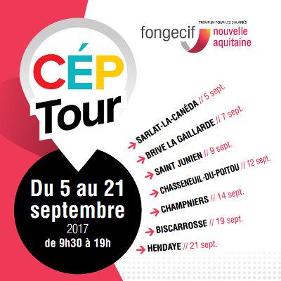 Le « CEP Tour » du 5 au 21 septembre en Nouvelle-Aquitaine