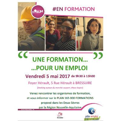 Plan 165 000 formations : un Forum le 5 mai à Bressuire
