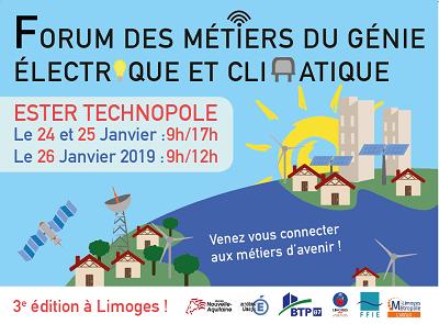 3ème édition du Forum des métiers du génie électrique et climatique à Limoges