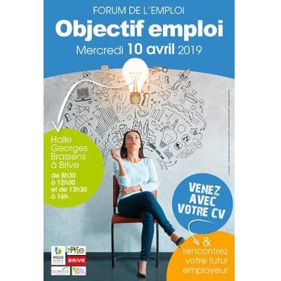 Forum de l'emploi à Brive le 10 avril