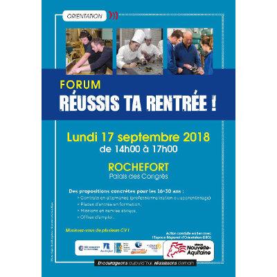 """Forum """"Réussis ta rentrée !"""" à Rochefort"""