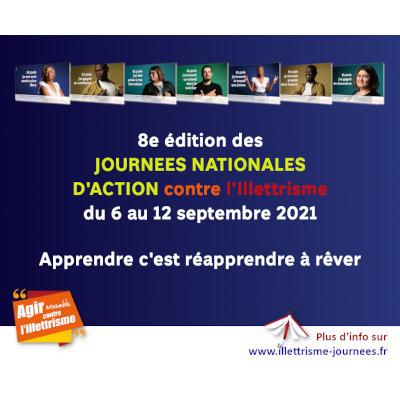 Illettrisme : les JNAI du 6 au 12 septembre 2021