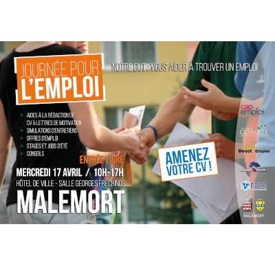 Journée pour l'emploi à Malemort le 17 avril