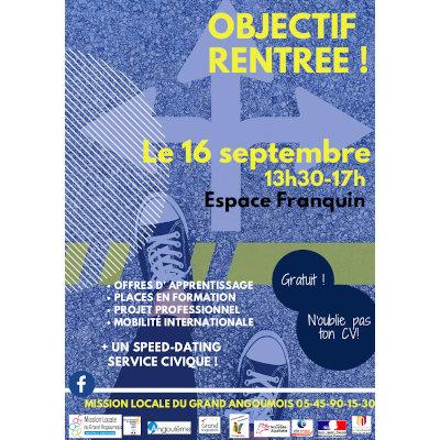 """""""Objectif Rentrée !"""" à Angoulême"""