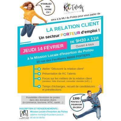 Information sur le secteur et les métiers de la relation client à Poitiers