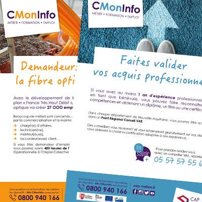 Nouvelles affiches « CMonInfo » de Cap Métiers